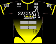 Garneau Baits dye sublimated printed tournament   jersey
